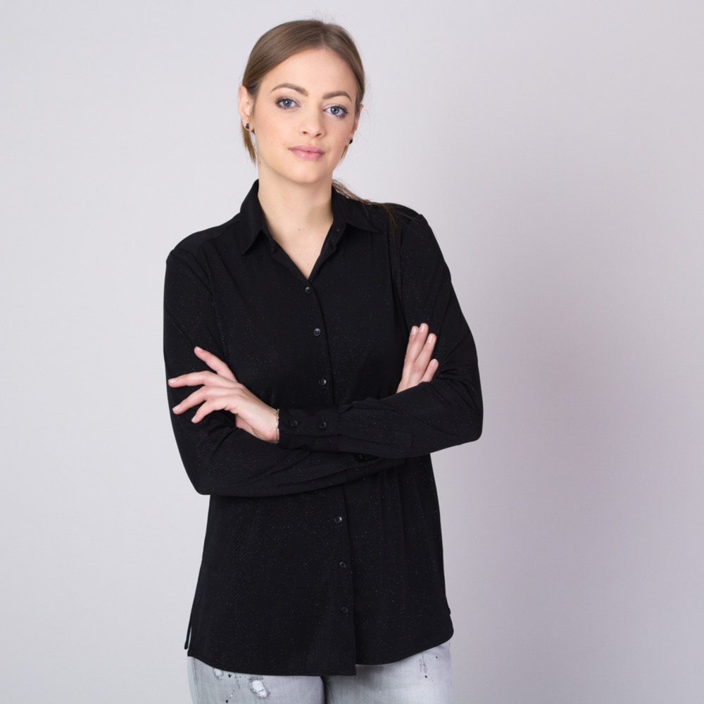 Women's shirt with silver threads pattern 11349