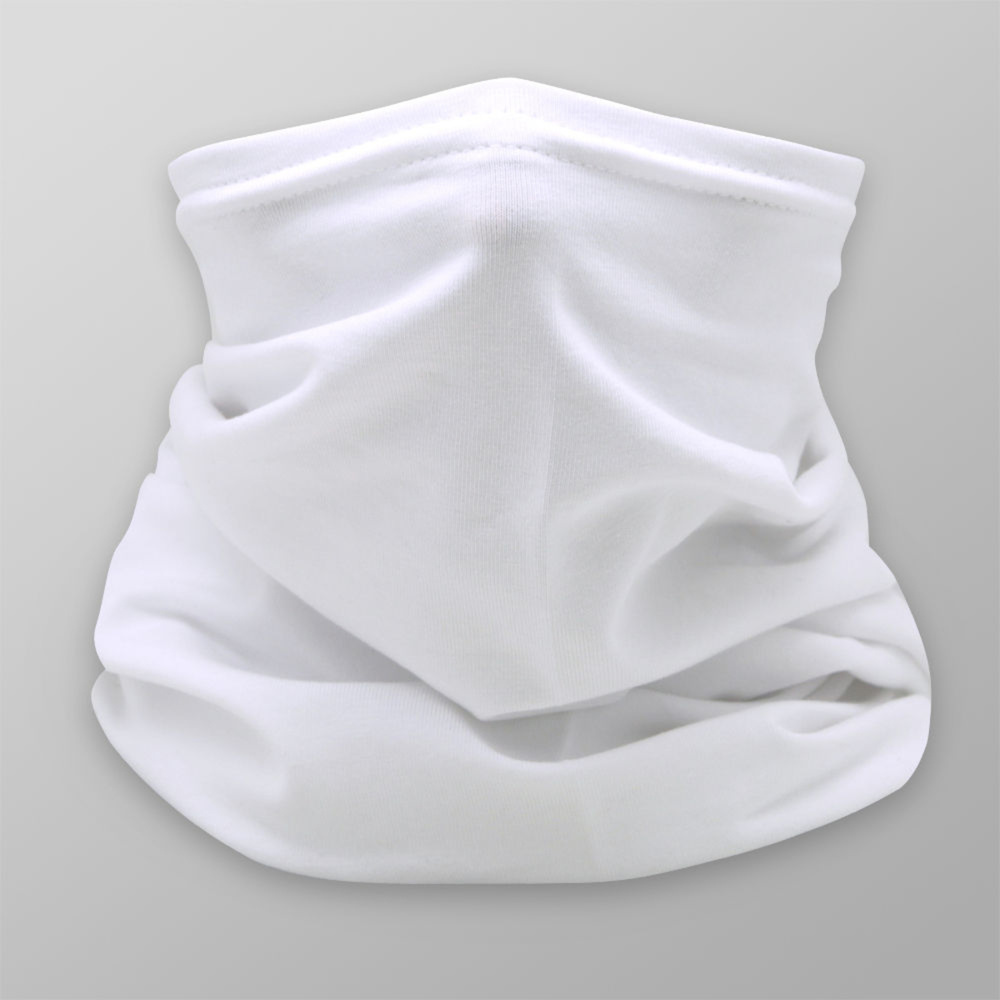 Multi-purpose white scarf with smooth pattern 12039