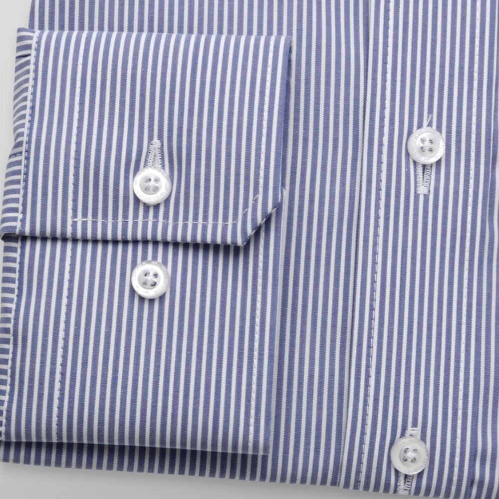 Men's shirt Slim Fit with blue-white striped pattern 12066
