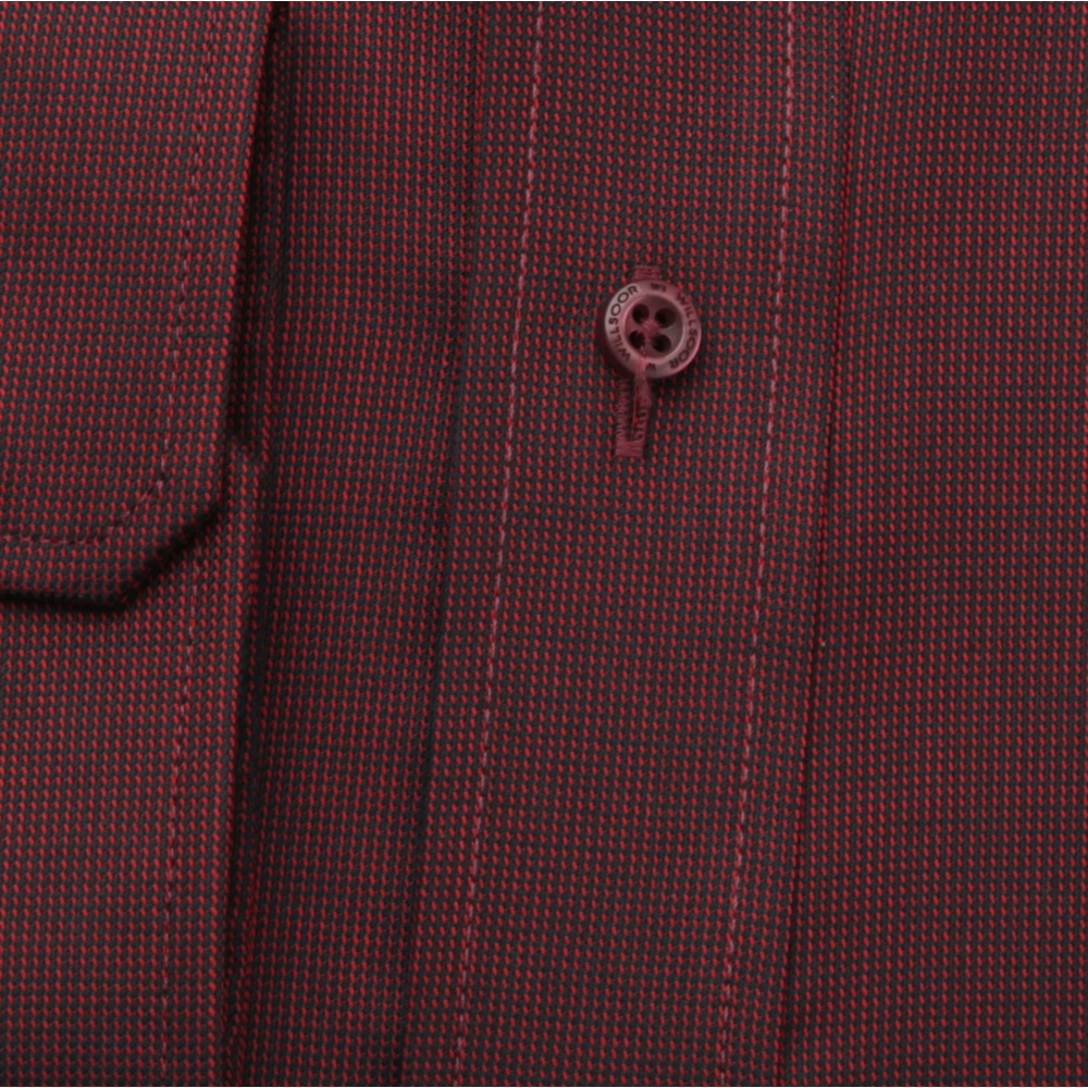 Men's Slim Fit shirt in claret with fine pattern 12417