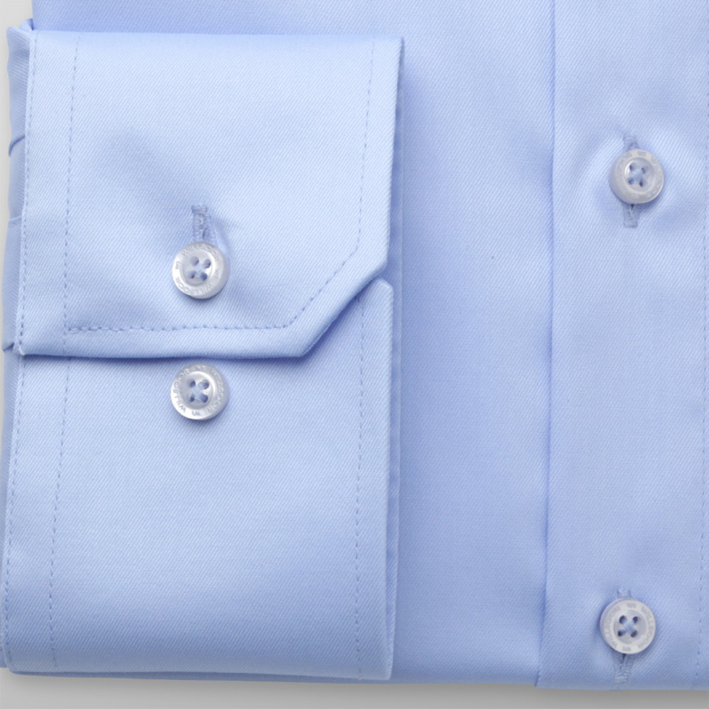 Men's shirt Slim Fit blue with smooth pattern 12608