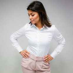 Women's shirt with pearl decoration 10119
