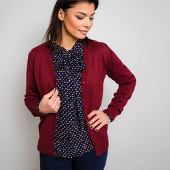 Women's cardigan in claret Willsoor 10278, Willsoor