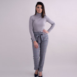 Elegant women's turtleneck jumper in grey 10360, Willsoor