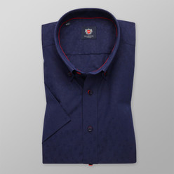 London shirt in dark blue with fine pattern (height 176-182) 10503, Willsoor