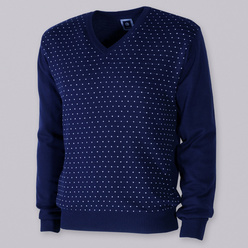 Men's jumper with white dot pattern 10531, Willsoor