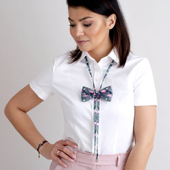 Women's bow tie with flamingos print 10594, Willsoor