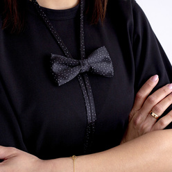 Women's bow tie with  triangles print10602, Willsoor