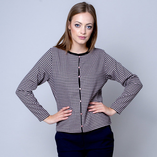 Women's cardigan in pink-black 10634, Willsoor
