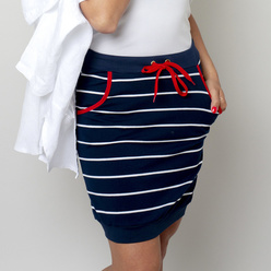 Knitted skirt with striped pattern 10774, Willsoor