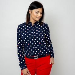Women's shirt with colorful dot pattern 10803