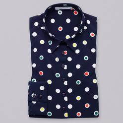 Women's shirt with colorful dot pattern 10803, Willsoor