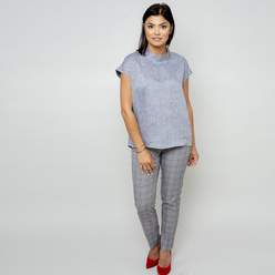 Women's blouse in grey color 10846, Willsoor