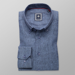 Classic natural linen shirt in blue (height 176-182 and 188-194) 10888