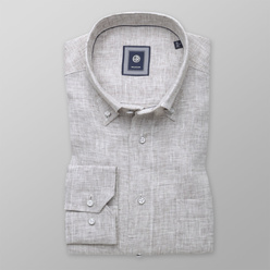 Classic shirt in beige-grey (height 176-182) 10892