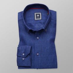 Slim Fit shirt in blue color (height 176-182) 10893