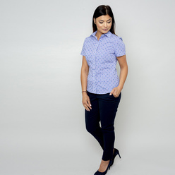 Women's blouse with fine check pattern 10916, Willsoor