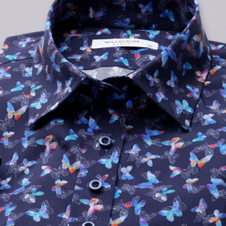Women's blouse with colorful butterflies print  10918, Willsoor