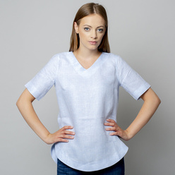 Women's blouse in light blue color 10933, Willsoor