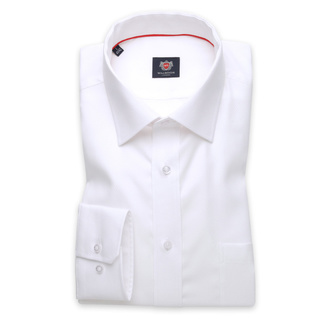 London shirt in white with fine pattern (height 198-204) 11042