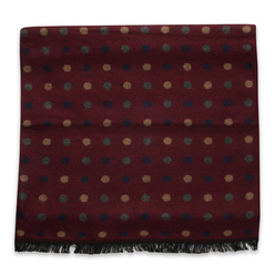 Claret scarf with dotted pattern 11053, Willsoor