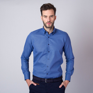 London shirt in blue with polka dot pattern (height 176-182) 11059