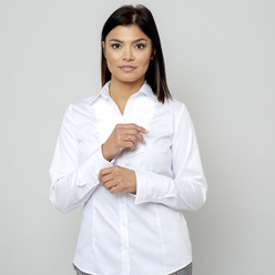 Women's shirt with decorative pleating 11068