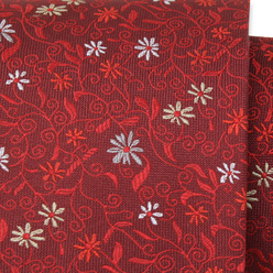 Men's silk tie with red floral pattern 11116, Willsoor