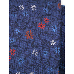 Men's silk tie with floral pattern 11117, Willsoor