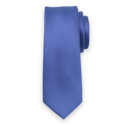 Narrow tie in blue color with fine pattern 11123, Willsoor