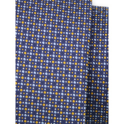 Narrow tie in dark blue color with polka dot pattern 11129, Willsoor