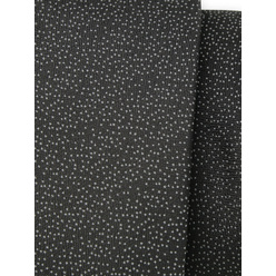 Narrow tie in black color with grey pattern 11132, Willsoor