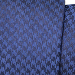 Narrow tie in blue color with dark blue pattern 11135, Willsoor