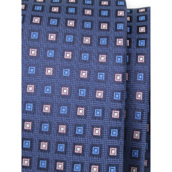 Narrow tie with blue and pink check print 11137, Willsoor