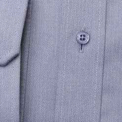 Men's classic shirt in blue-grey with fine pattern 11232, Willsoor