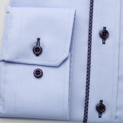 Men's classic shirt in light blue with contrast elements 11234, Willsoor