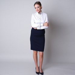 Women's shirt with elements with polka dot pattern 11240, Willsoor