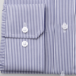Men's Slim Fit shirt with dark blue striped pattern 11250