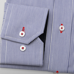 Men's classic shirt with striped pattern and contrast elements 11252, Willsoor