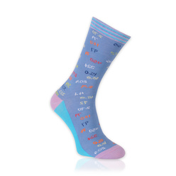 Men's socks in light blue with mathematical pattern 11264, Willsoor
