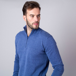 Men's jumper in blue color 11270, Willsoor