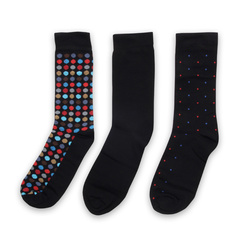 Set of 3 men's socks with polka dot pattern 11278, Willsoor