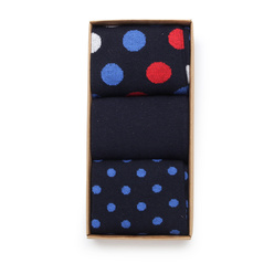 Set of 3 men's socks with polka dot pattern 11279, Willsoor