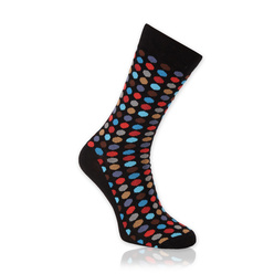 Men's socks with colorful polka dot pattern 11293, Willsoor
