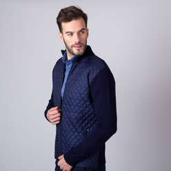 Men's jumper with quilted front part 11325, Willsoor
