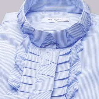 Women's shirt with blue-white striped pattern 11336, Willsoor