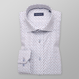 Men's classic shirt with fine brown pattern 11338, Willsoor