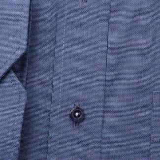 Men's classic shirt in blue with fine pattern 11342, Willsoor