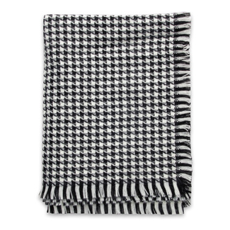 Scarf with black and white check pattern 11353, Willsoor