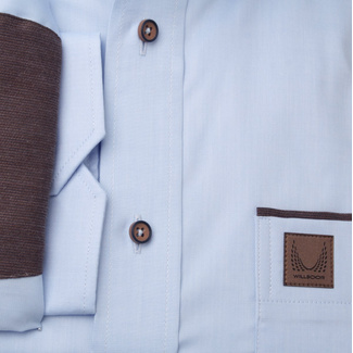 Classic men's shirt with brown contrast elements 11371, Willsoor